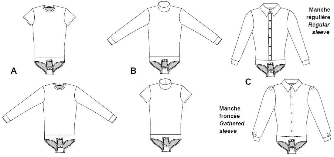 Jalie Men's & Boys' Figure Skating Bodyshirts Sewing