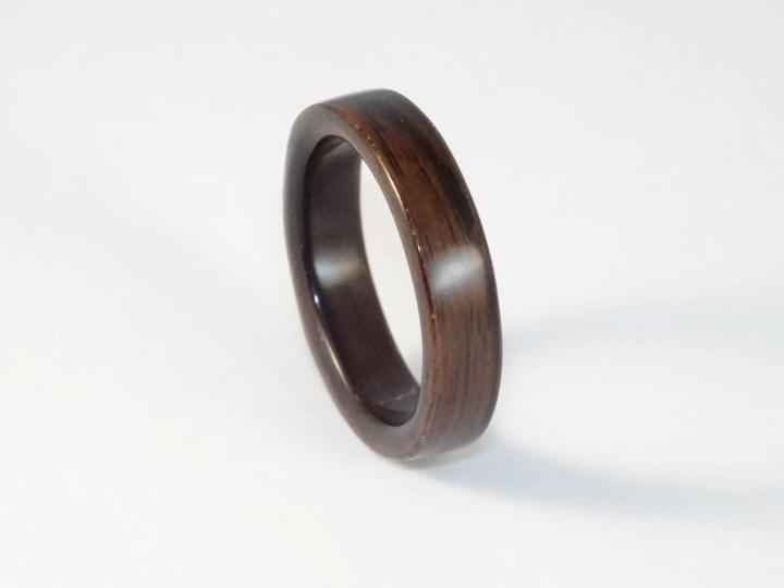 Bent Wood Ring Macassar E...