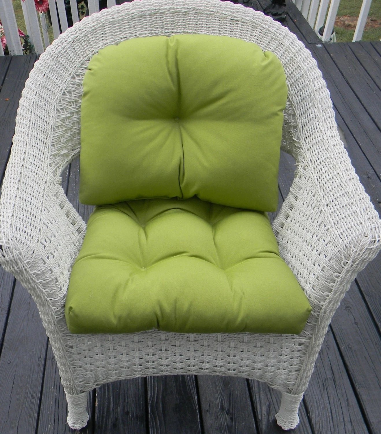 indoor outdoor chair cushions fabric covers for dining room chairs uk wicker cushion and back pillow