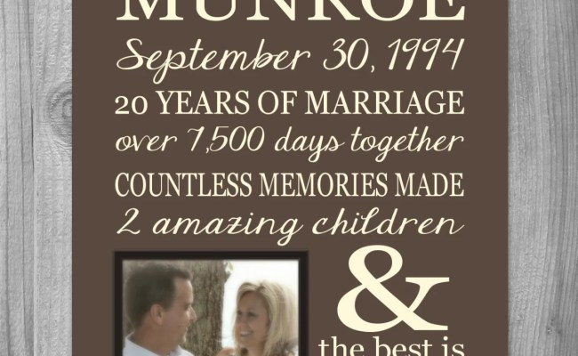 Personalized 25th Anniversary Gift For Wife Personalized Print