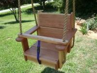 Wood Tree Swings Cherry Toddler Seat