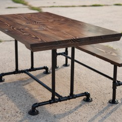 Industrial Kitchen Table Ceiling Exhaust Fan 5ft Style Farmhouse Dining