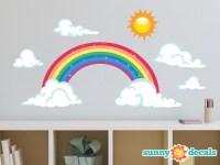 Rainbow Fabric Wall Decal Sparkling Rainbow Wall Decor with