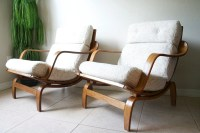 Mid Century Bentwood Lounge Chairs by Charlton-England