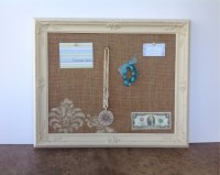 Bulletin board message board shabby chic decor vintage