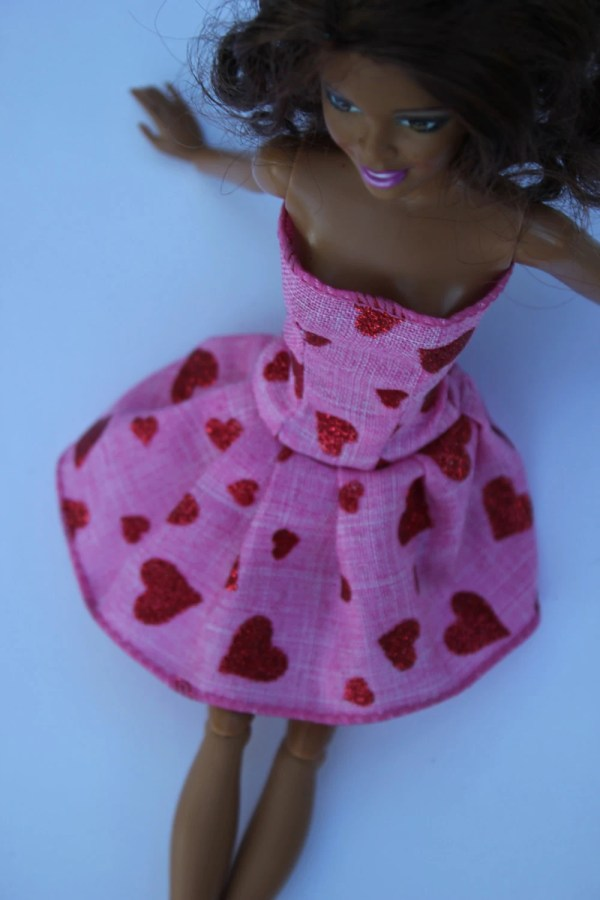 11.5 Doll Clothes Pink With Red Hearts Short Barbie