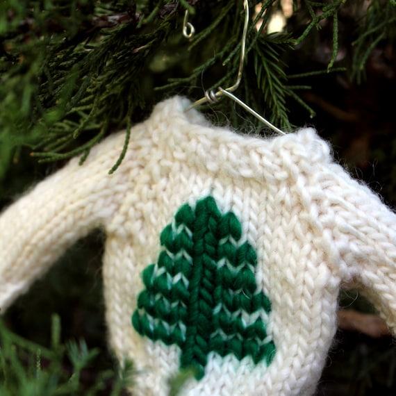 Christmas Knit PATTERN  Tree Mini Sweater by