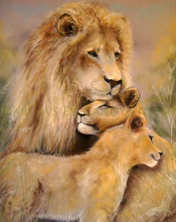 Lion Art Print Painting Safari Cub Nursery