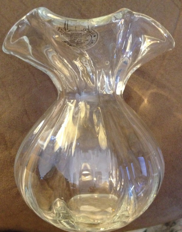 Hand Blown Clear Glass Vases