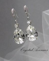 Crystal Bridal earrings Wedding jewelry by CrystalAvenues ...