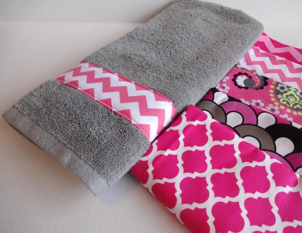 Pink And Grey Towels Hand Towel Sets Bath