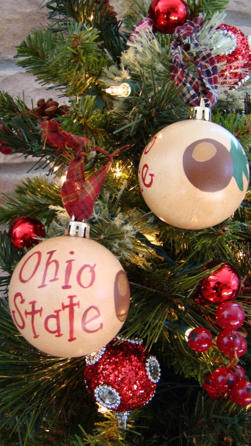 Primative Ohio State Christmas Ornament Ohio State Buckeyes