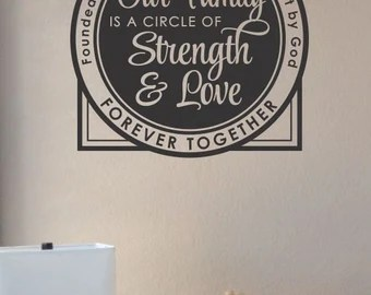 Download Slap-Art™ Our family is a circle of strength and love Wall ...