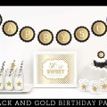 Black and gold party decorations 50th birthday party by modparty