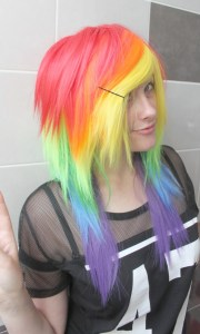 rainbow pony layered multicolor
