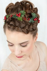holiday hair accessories holly