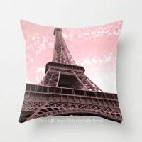 Paris Pillows Eiffel Tower Pillow Pink Eiffel Tower Pillow
