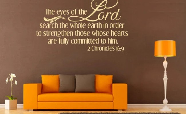Spiritual Wall Decal The Eyes Of The Lord Search Code 092