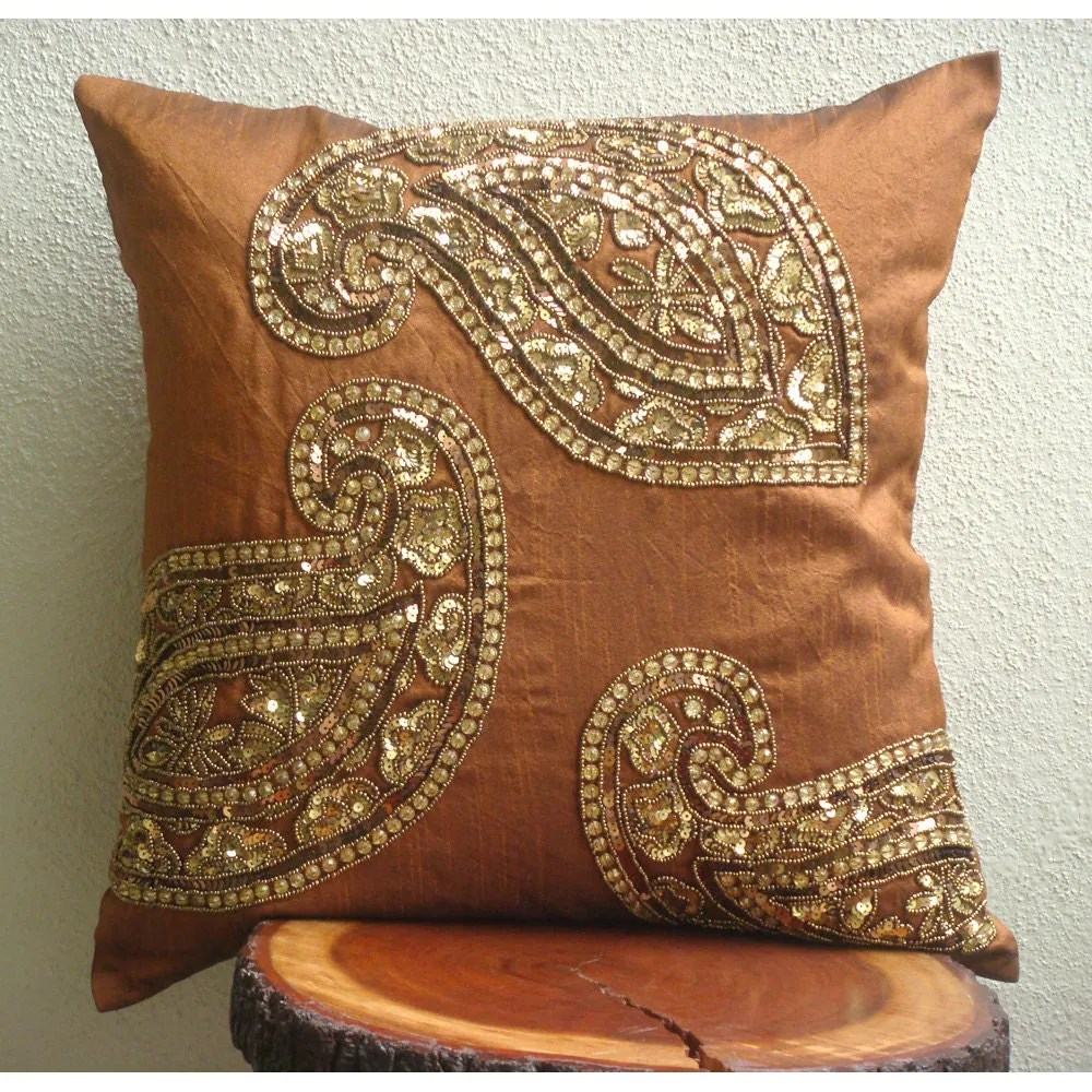 Decorative Throw Pillow Covers 20x20 Burnt by TheHomeCentric
