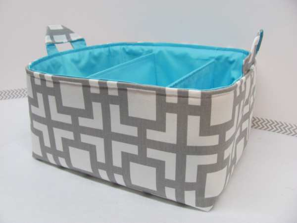 Fabric Diaper Caddy Organizer Storage Bin Basket