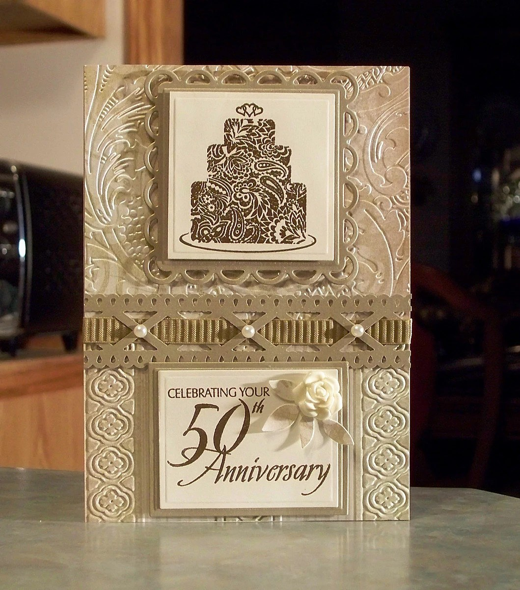 Handmade 50th Anniversary Card Stampin Up For the Bride