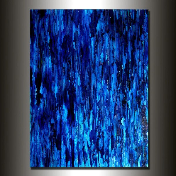 Modern Painting Original Large Blue Abstract