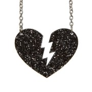 broken heart necklace laser cut