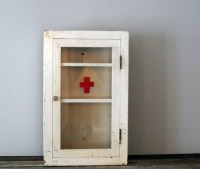 WWII Era Red Cross Medicine Cabinet by Heritage1956 on Etsy