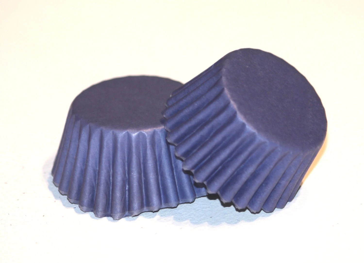24 Navy Blue Greaseproof Mini Cupcake Liners By