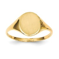 14kt Yellow Gold Ladies signet ring