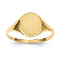 14kt Yellow Gold Ladies signet ring