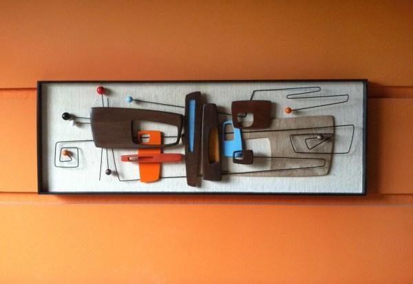 Mid Century Modern Abstract Wall Art Sculpture Painting Retro