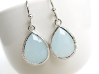 Dusty Blue Earrings / Alice Blue Earrings / Pale Blue / Aqua