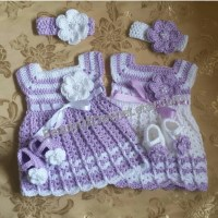 Newborn twins crochet outfit baby girl clothes by ...