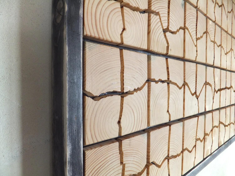 Unique Wooden Wall Art 53 x 32 x 1.5