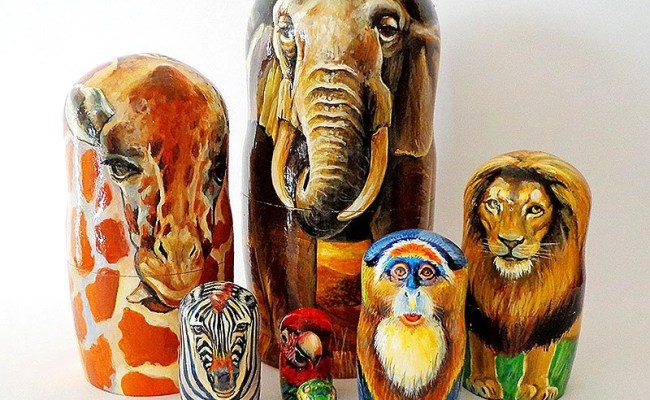 Items Similar To Matryoshka Africa Wooden Painted