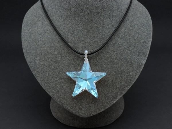 Swarovski Crystal Star Necklace Pendant Aurora