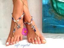 Barefoot Sandals. Beaded Sandals Native America Sea Star