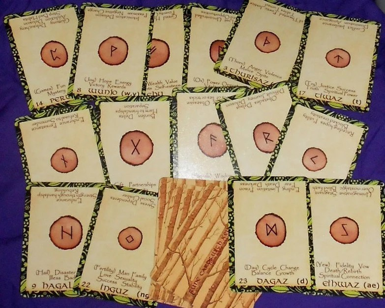Rune Cards With Key Words Oracle Deck 25 Cards By Lynn Boyle