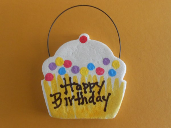 Personalized Cupcake Salt Dough Ornament Bread