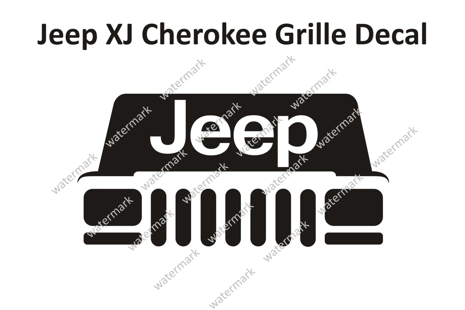 Jeep XJ Cherokee Classic Sport Grille Logo Decal by Robnmon
