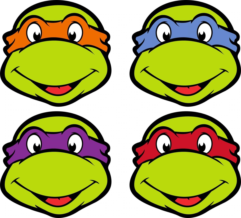 Teenage Mutant Ninja Turtle Mask Printable By Mothermayix1 On Etsy