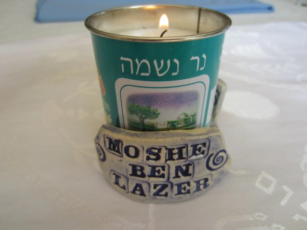 Jewish Yahrzite Memorial Candle Holder Jewishheirlooms