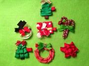 christmas hair clips accessories