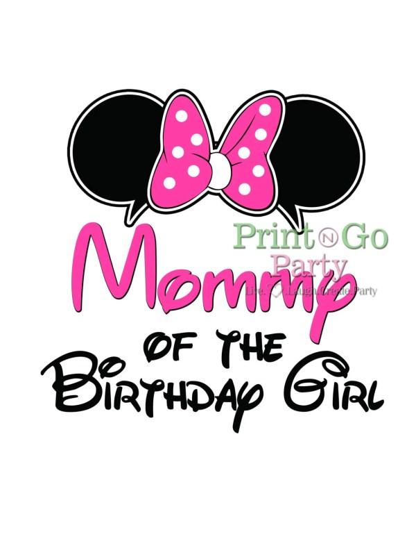 Diy Mom Of Birthday Boy Minnie Mouse Shirt Printable