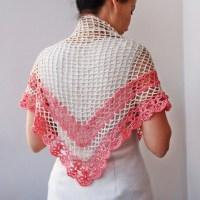 Crochet pattern shawl, women triangle shawl, crochet lace ...