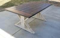Kent Dining Table Trestle-X Farmhouse Reclaimed Wood