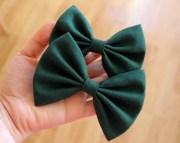 4 4.5 hunter green hair bow
