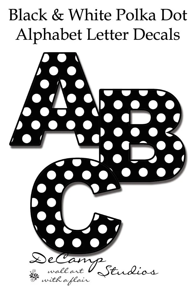 NURSERY NAME DECALS Polka Dot Letters Wall Word Art Stickers