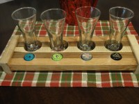 Wood Beer Flight glass holder BF7 by Robinswoodcraft on Etsy